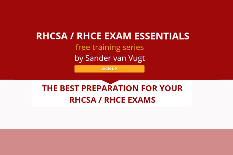 Free online live training series  'RHCSA / RHCE exam essentials'