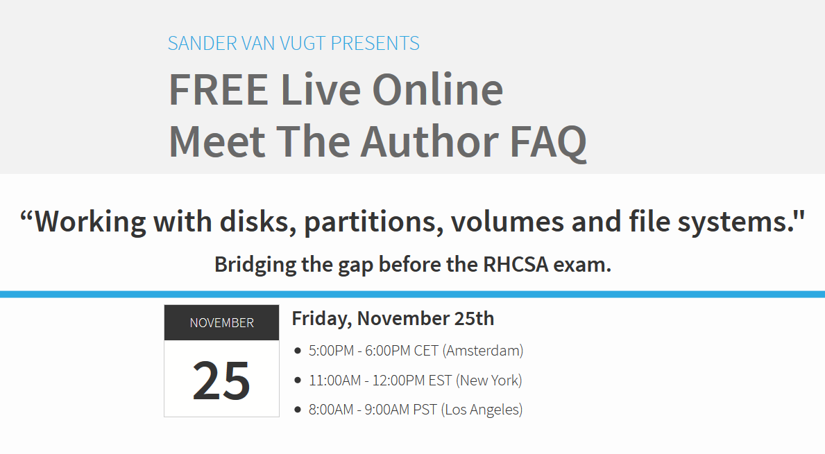 FREE LIVE SESSION – Bridging the gap before the RHCSA Exam – For Novice Linux Users & Admins