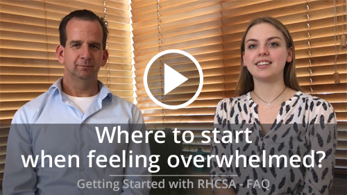 Where to start when feeling overwhelmed to study for the RHCSA® Exam
