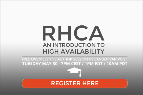 RHCA high availability live session sign up