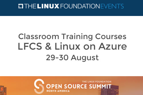 LFCS & Linux on Azure Training Courses during Open Source Summit North America