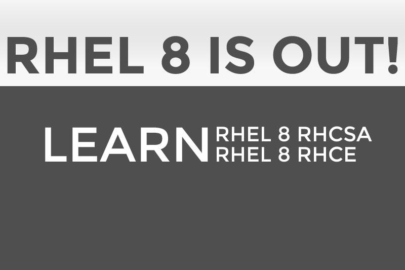 Learn RHEL 8 – UPDATED