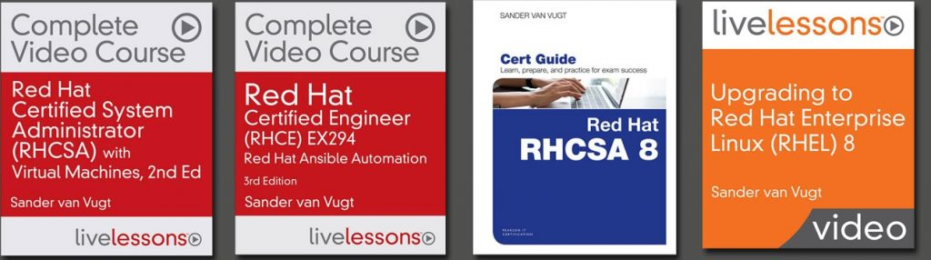 RHEL 8 resources Sander van Vugt
