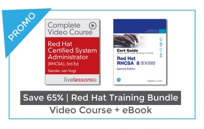 Red Hat certified system administrator course + RHCSA Certification Guide – PROMO 2021
